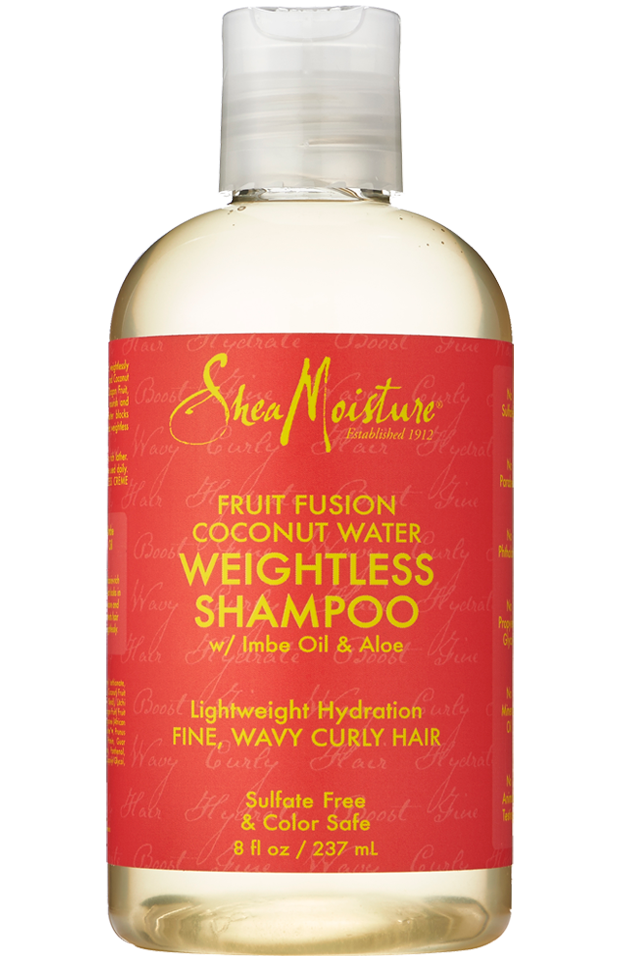 Fruit Fusion Coconut Water Weightless Shampoo Shampoo For Fine Hair Curly Hair Styles Oil For Curly Hair