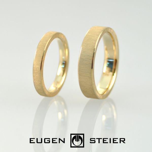 Trauringe Eheringe 750 Gelb Gold 18 Karat von Eugen Steier auf