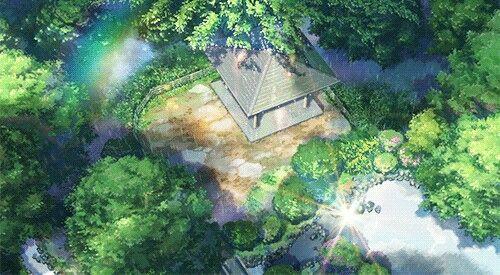 Pin By Cik Narratu On Gif Image Garden Of Words Anime Scenery Scenery Wallpaper