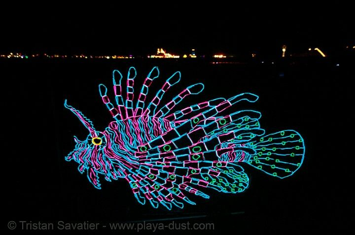 Really cool el wire lion fish | Ready, set, GLOW! | Pinterest