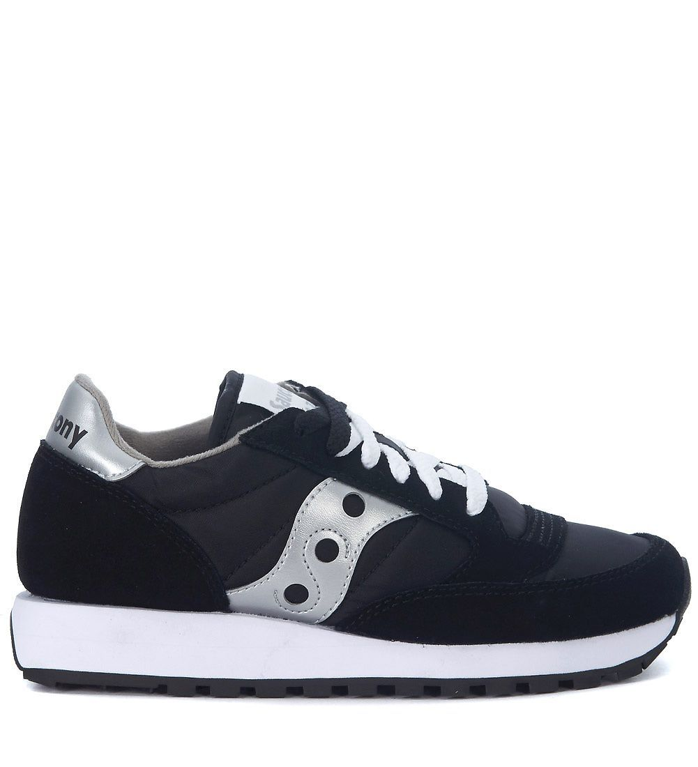 e27ef1a0ea SAUCONY | Saucony Saucony Jazz Black And Silver Leather And Nylon ...