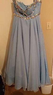 light blue formal dress