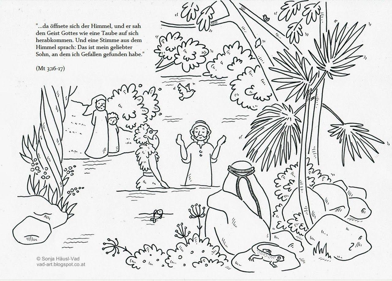 Taufe Jesu | Bibel-Ausmalbilder | Pinterest | die Bibel ...