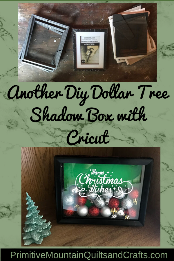 Another Diy Dollar Tree Shadow Box with Cricut
