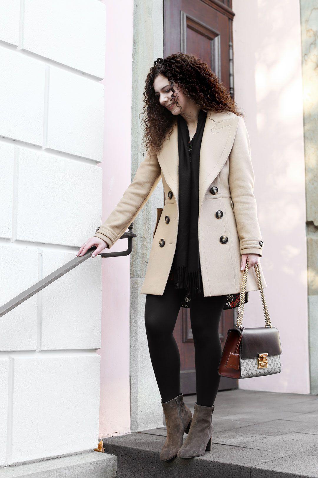 Wunderschön Stiefeletten Zum Kleid Foto Von Herbstoutfit Mit Kleid, Thermostrumpfhose Und Stiefelette Fashiondesign