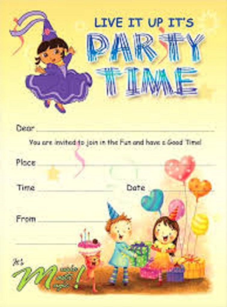 Party invitation template kids Party Invitation Card Pinterest