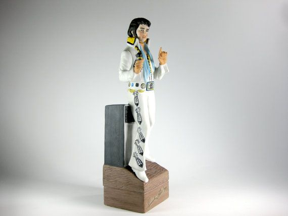 Vintage Large 1977 Elvis Presley Music Box by PopRocketShop