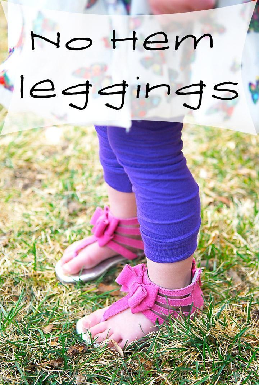 DIY Clothes Refashion: DIY No Hem Leggings