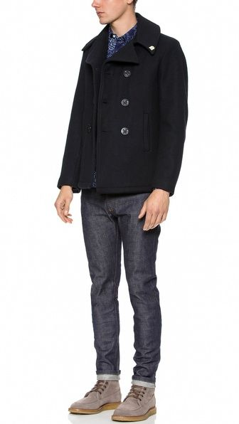 Gerald & Stewart by Fidelity Quilted Pea Coat   Fidelity Men's ... : quilted pea coat - Adamdwight.com