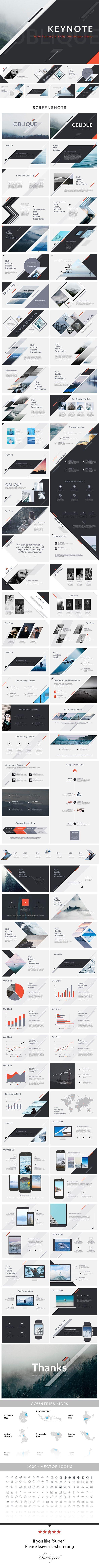 Oblique keynote presentation template presentation templates oblique keynote presentation template toneelgroepblik Choice Image