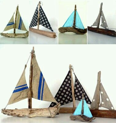 Driftwood Boats Driftwood Crafts Driftwood Art Beach Crafts