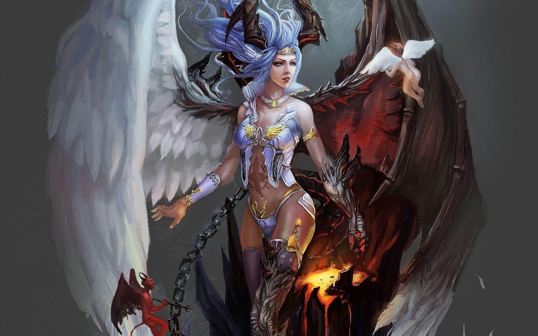 Обои Фантастика, падший ангел, крылья. Фантастика foto 12