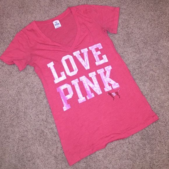 VS Love Pink Tee Soft and comfortable Victoria's Secret Love Pink t-shirt PINK Victoria's Secret Tops