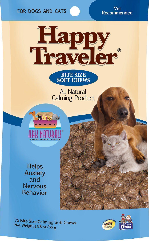 Ark naturals happy traveler dog cat soft chews 75 count