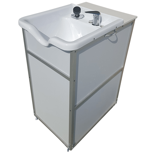 portable self contained shampoo sink