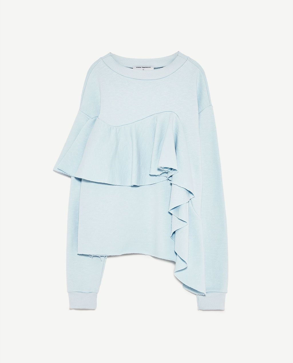 Zdjęcie 8 BLUZA Z FALBANKĄ z Zara  Desain blus, Gaya model