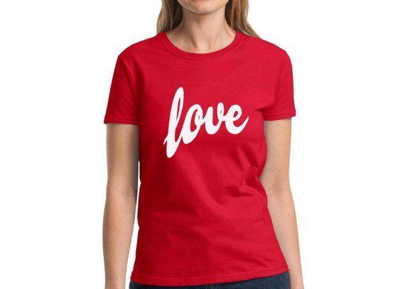 251534b3 Love Shirts Valentine's Day Women's Valentines Love Tshirt Valentine Love  Shirt for Her Valentines T