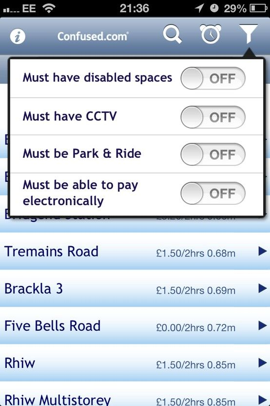 Get directions to car parks, find out how much they charge, and choose the closest and cheapest. Search for nearby parking using your GPS location, or by using your destination's address. You can check availability of disabled spaces, if they accept electronic payments, and plenty more. You can even set up a parking timer, and the app will remind you before you spend over a given amount.