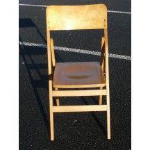 Chaise Pliante Baumann En Bois Clair Vintage Chair Assise