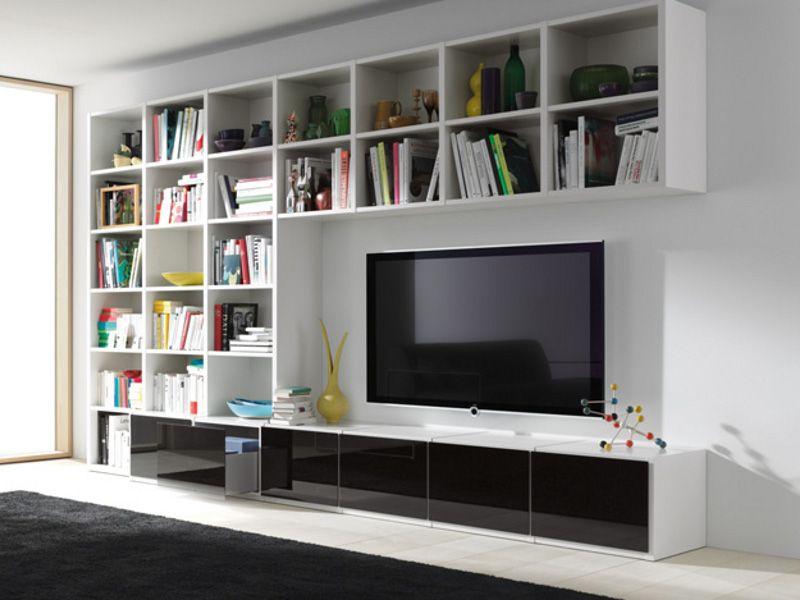 wohnwand modern inneninterieur, libreria / parete attrezzata studimo - interlübke | salotto | pinterest, Möbel ideen