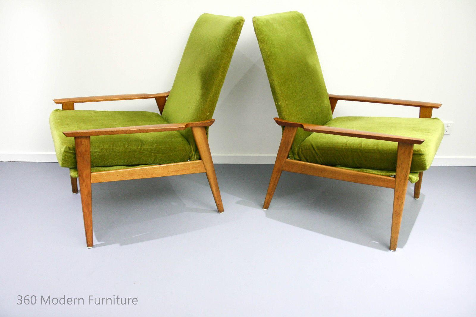 Mid century fler armchairs x 2 retro vintage scandi danish era fred lowen pair in home garden furniture sofas couches ebay 360 modern furniture 1265