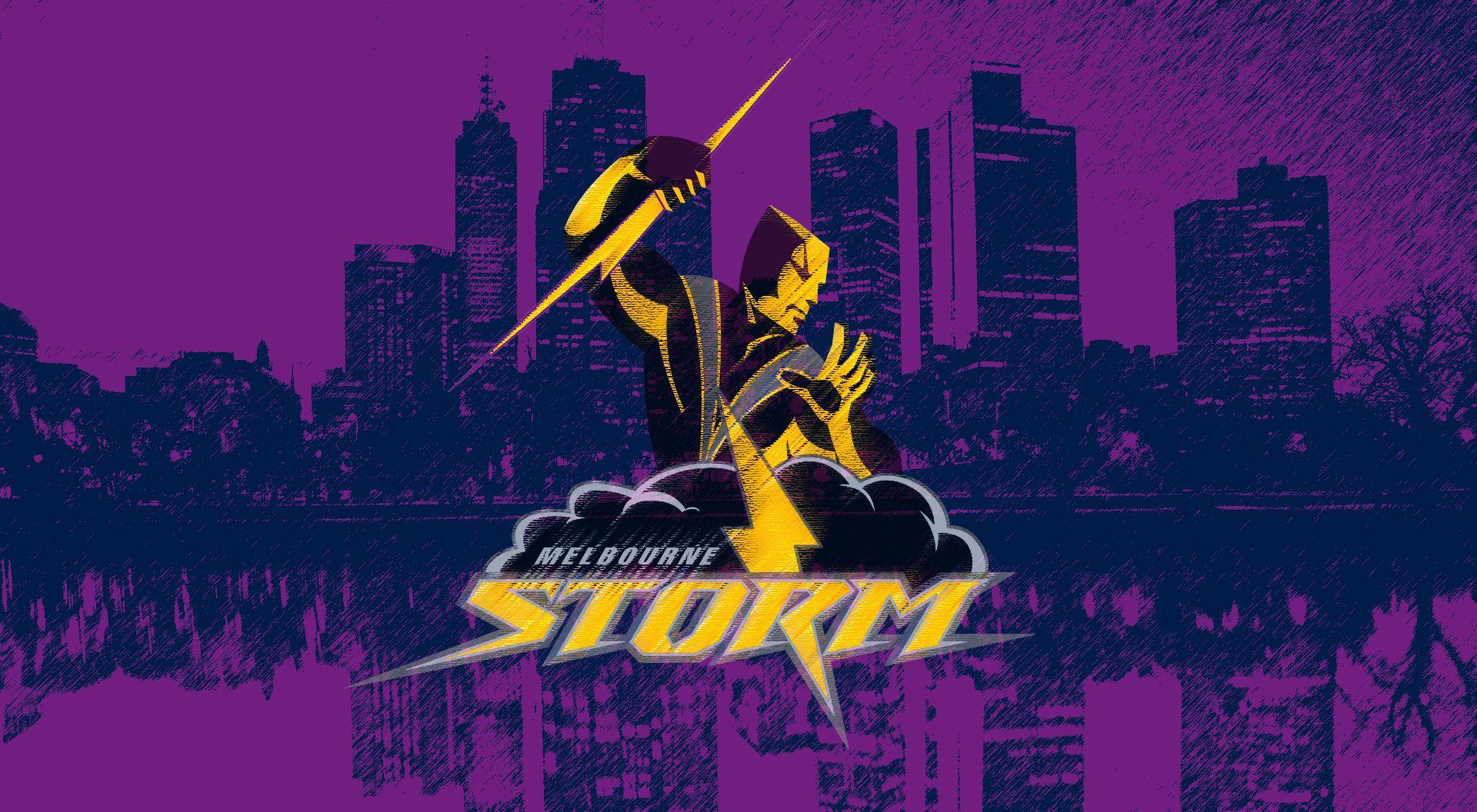 Melbourne Storm Purple City Wallpaper by Sunnyboiiii