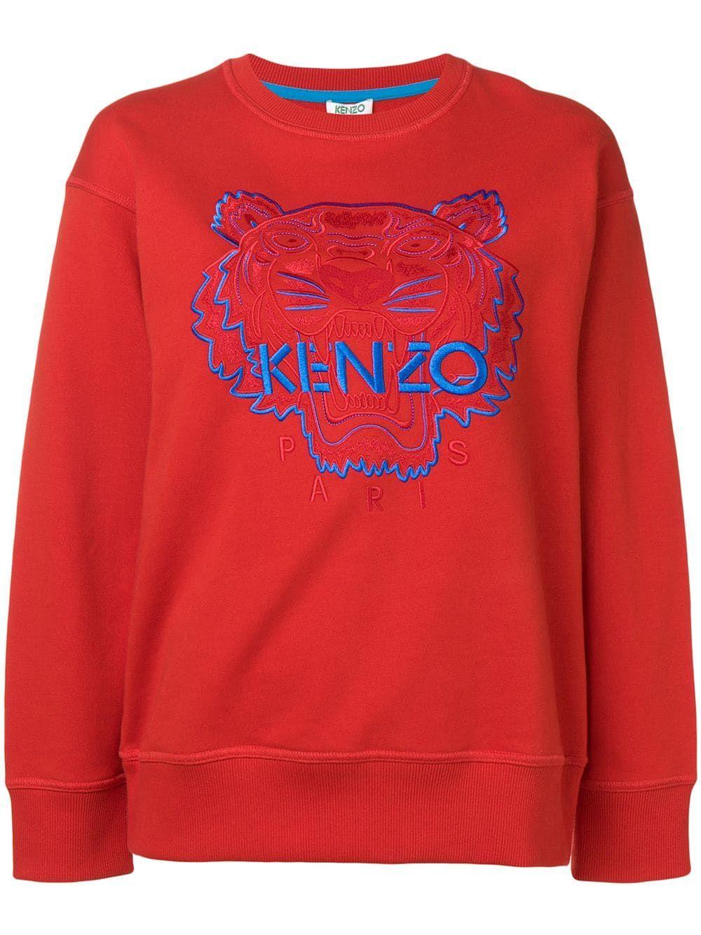 de14e6de6e Kenzo tiger sweatshirt - Red in 2019 | Products | Sweatshirts, Kenzo ...