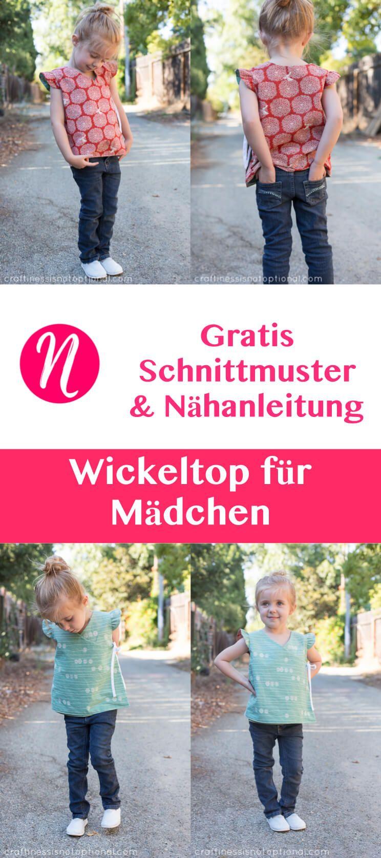 Wickeltop für Mädchen - Freebook | Pinterest | Selber nähen ...