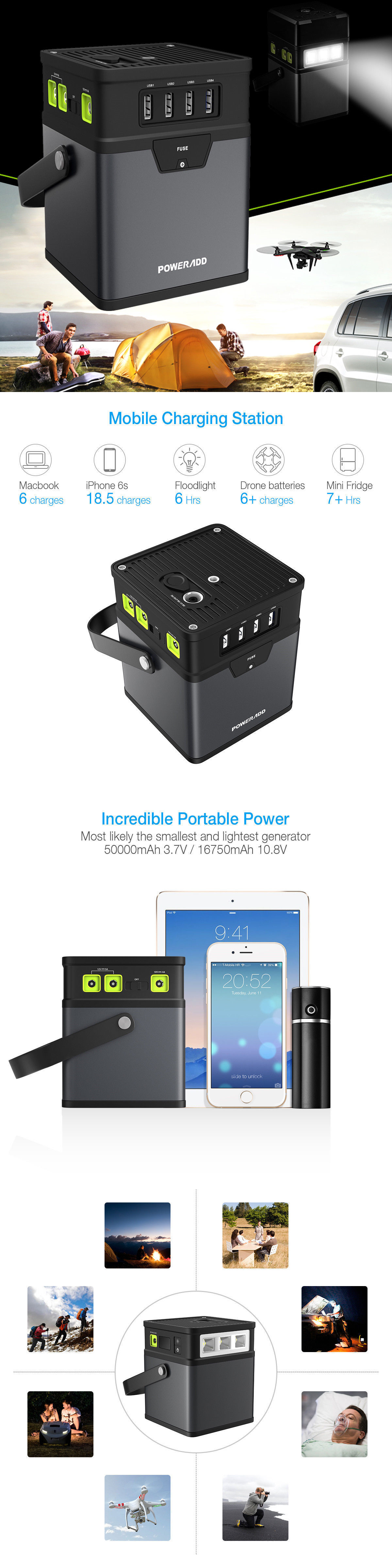 Battery Chargers Poweradd Mah Chargercenter Portable