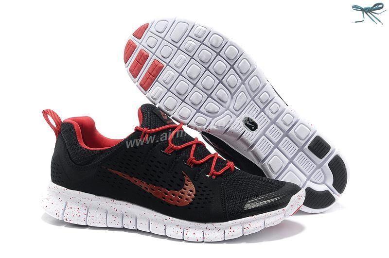Nike Free Powerlines II Mens 555306-612 Black Red
