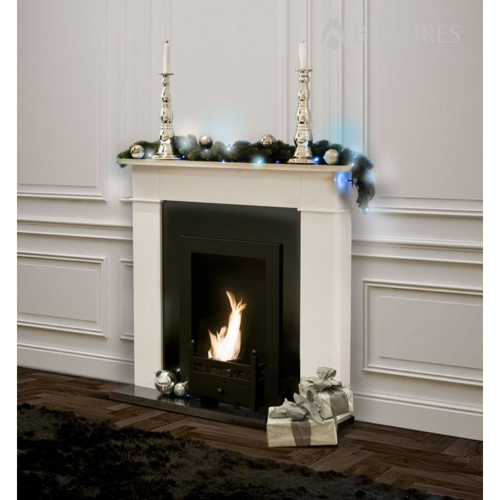 Carrington Cream Traditional Bio Ethanol Fireplace - Bio Fires (Gel ...