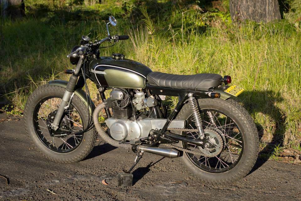 Honda CB250 Brat Tracker