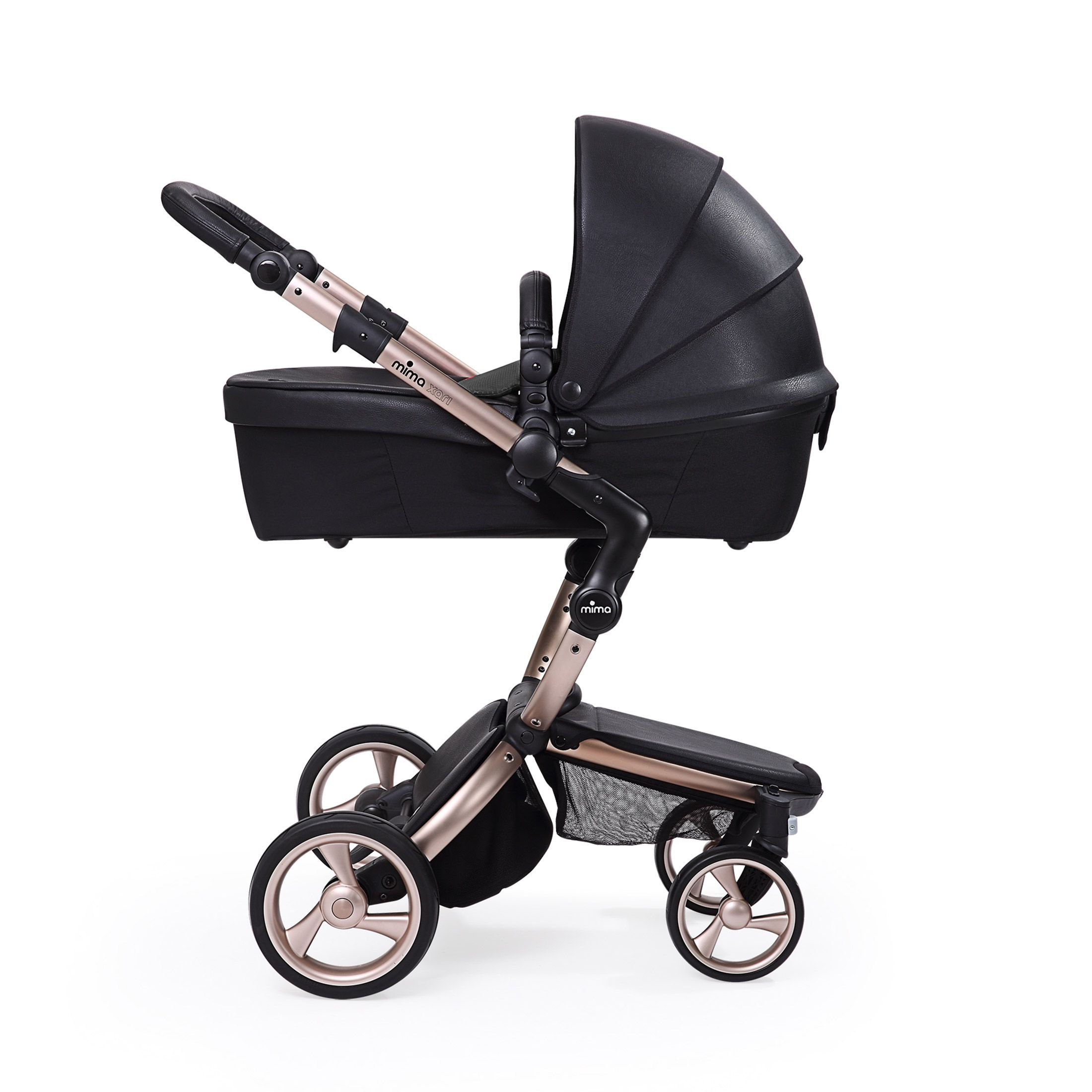 the rose gold Xari Stroller by Mima Int