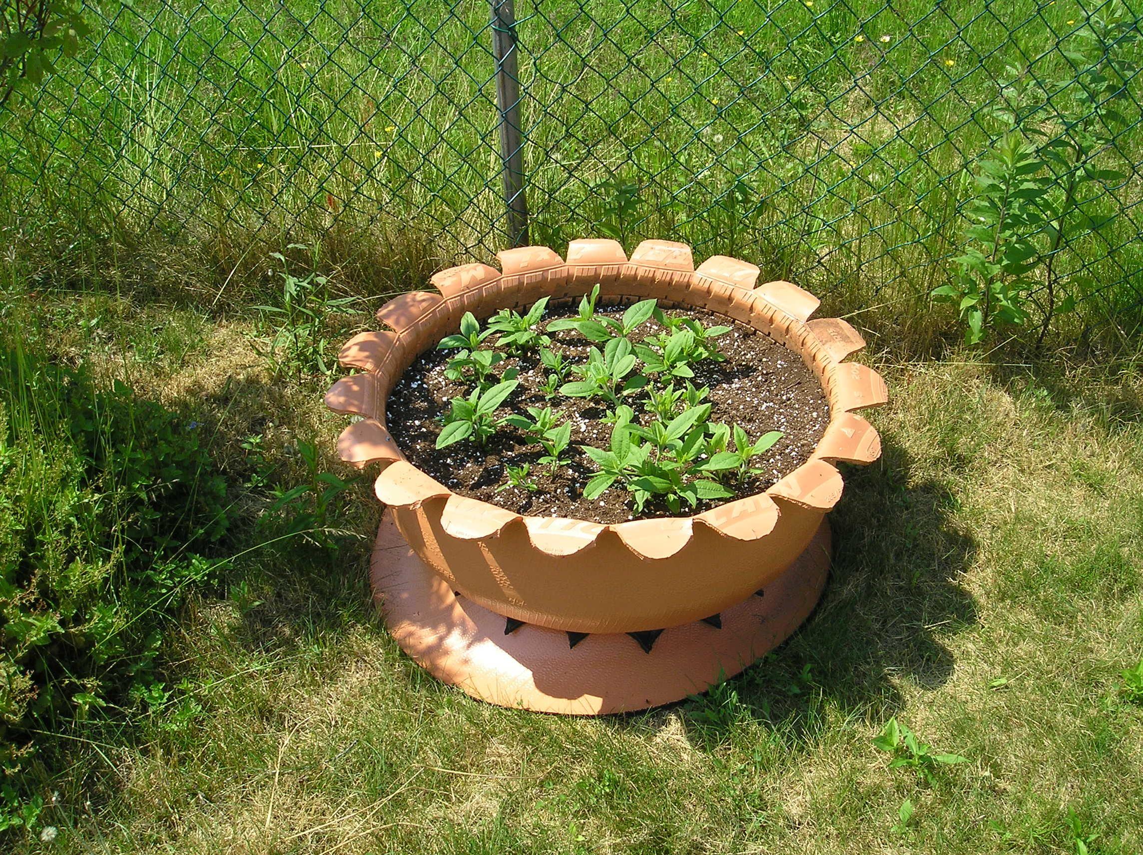 Tire Planters Raised Bed Gardening