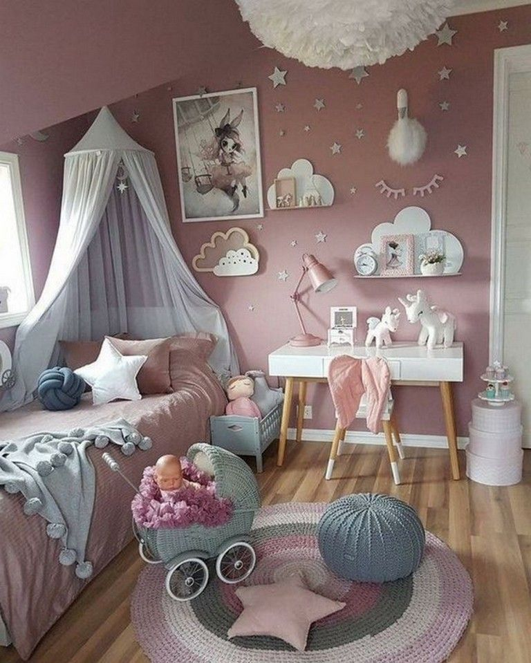 Making A Decision How To Make A Girl S Room Something Special For Her To Live As Well As Take Haven In Baby Room Decor Girl Bedroom Decor Shared Girls Bedroom