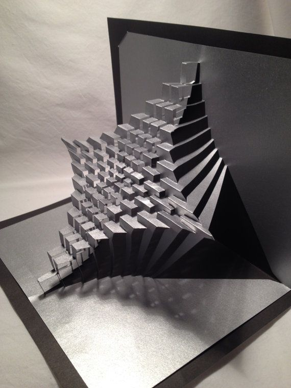 Cool Abstract Design Pop Up Book Creates A Cool Depth With The
