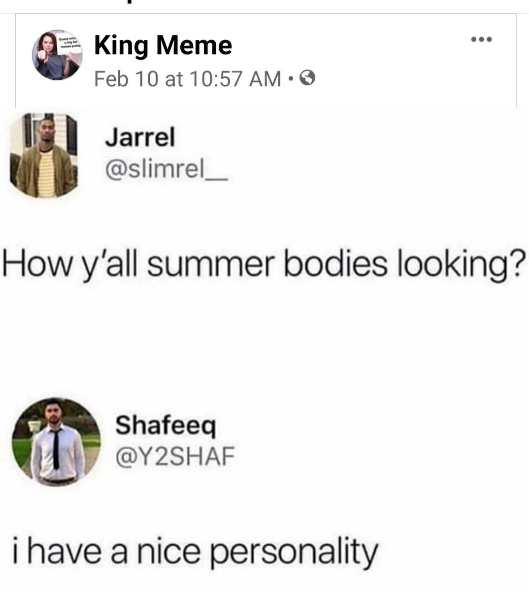 Pin By Carla Chipman On Funny Nice Personality King Meme Summer Body [ 1200 x 1074 Pixel ]