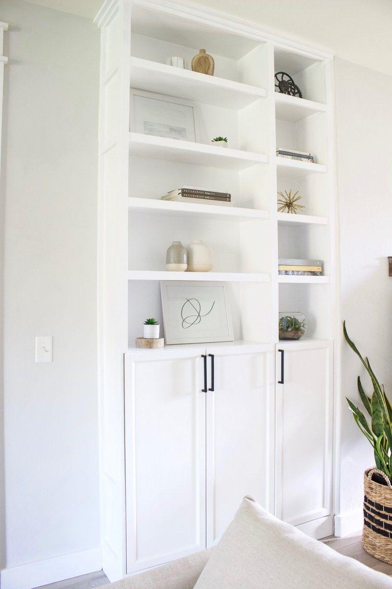 DIY Built Ins | Ikea billy bookcase hack, Ikea billy ...