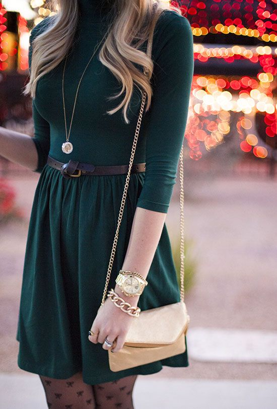 bc2760a01ab What color shoes and accessories should I wear with a dark green dress  -  Quora