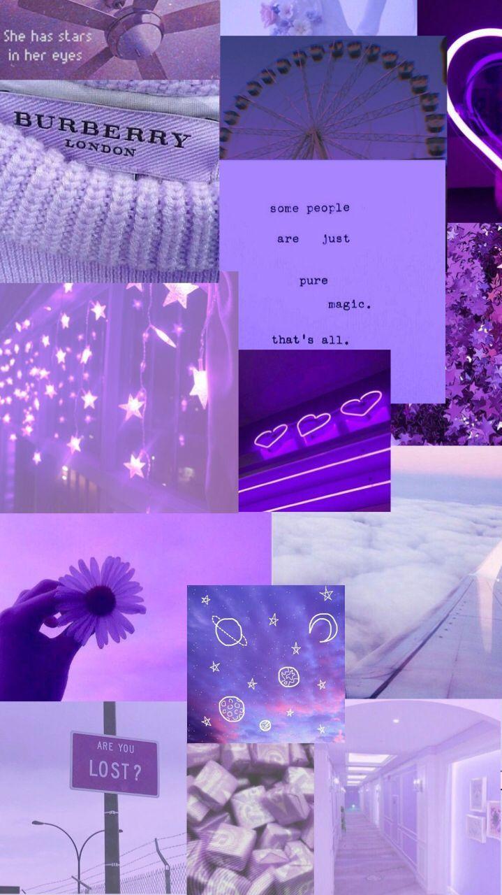 Ästhetische lila Tapeten #aestheticwallpaperiphone Lila ästhetische Collage