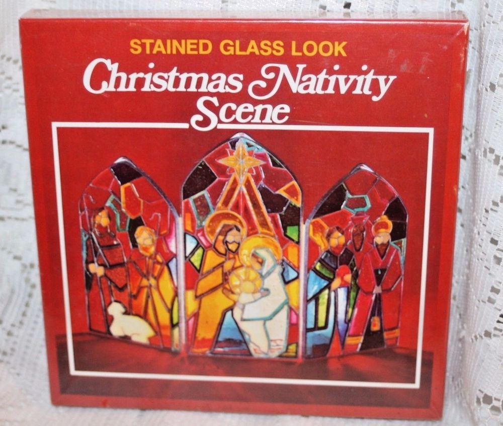 ez form baking crystals stained glass look christmas nativity scene