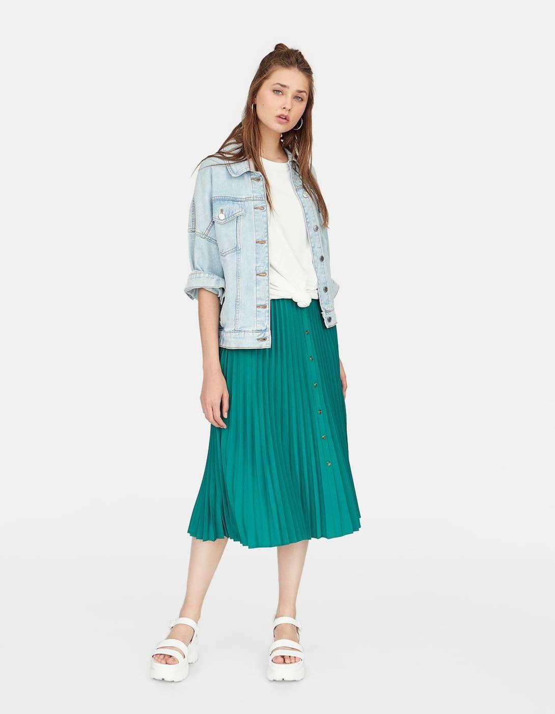 Falda plisada | Oufits en 2019 | Faldas plisadas, Falda