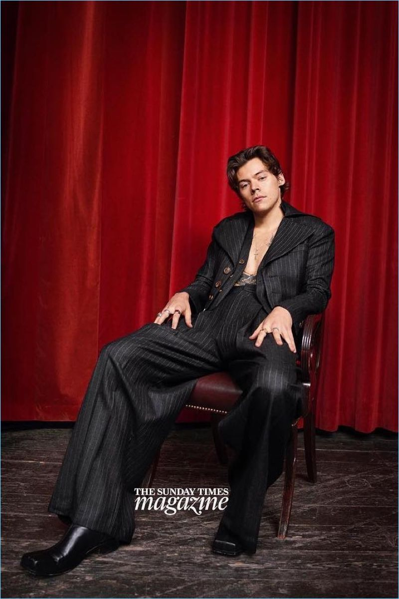 Harry Styles Rolling Stones Photoshoot