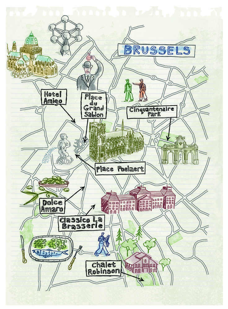 Brussels Map By Robert Littleford April 2016 Issue Brussels