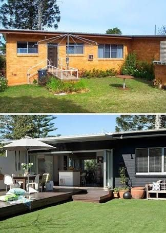 Painted Brick House Exterior Before And After Australia