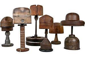 ...vintage hat forms.