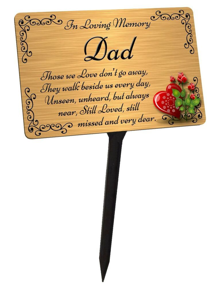 Pin By Yourpix On Ebay Memorial Plaques Memorial Plaque In Memory Of Dad Plaque