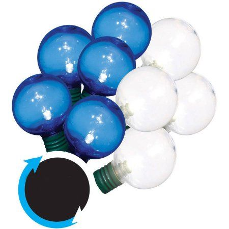 Walmart Rope Lights Alluring Led Colorsync Transparent G40 Christmas Lights 50 Count Blue Design Inspiration