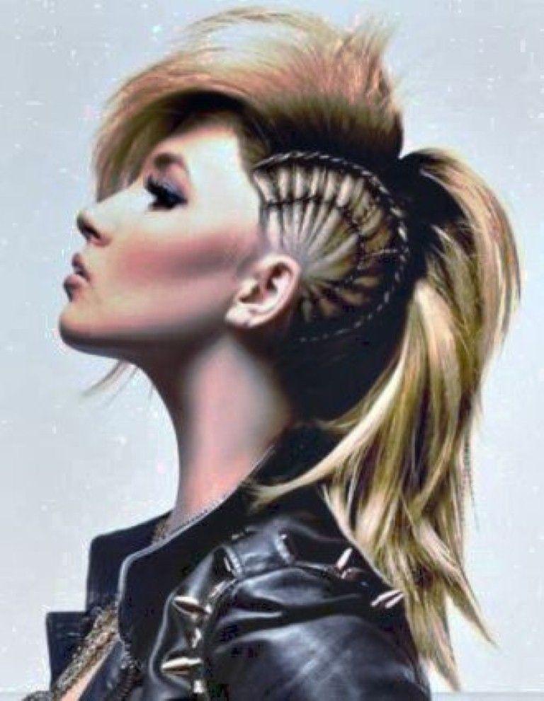 Punk Hairstyles For Long Hair Cute Long Hairstyles Mohawk Hairstyles For Women Mohawk Hairstyles Punk Hair