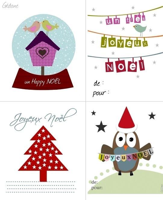 Cartes Etiquettes Cadeau De Noel A Imprimer Boxed Christmas